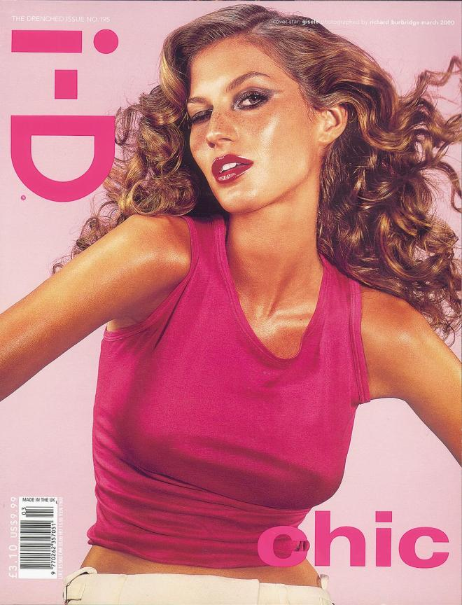 Gisele, Photography Richard Burbridge, Styling Edward Enninful, Hair Nicolas Jurnjak, Make-Up Pat McGrath. [The Drenched Issue, no. 195, March 2000]