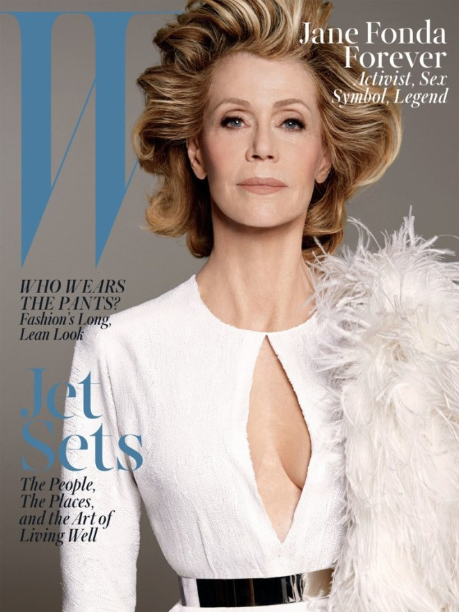 """Jane Fonda Forever: Activist, Sex Symbol, Legend,"" photographed by Steven Meisel; W magazine April 2015."